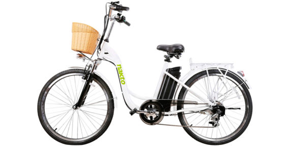 NAKTO City Electric Bicycle 26 CAMEL Sporting Shimano 6 Speed Gear EBike with Removable 36V10A Lithium Battery
