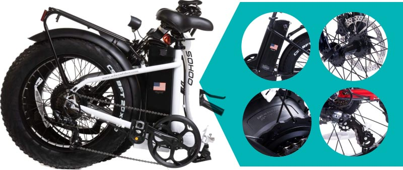 SOHOO 48V500W12AH Folding Fat Tire Electric Bicycle